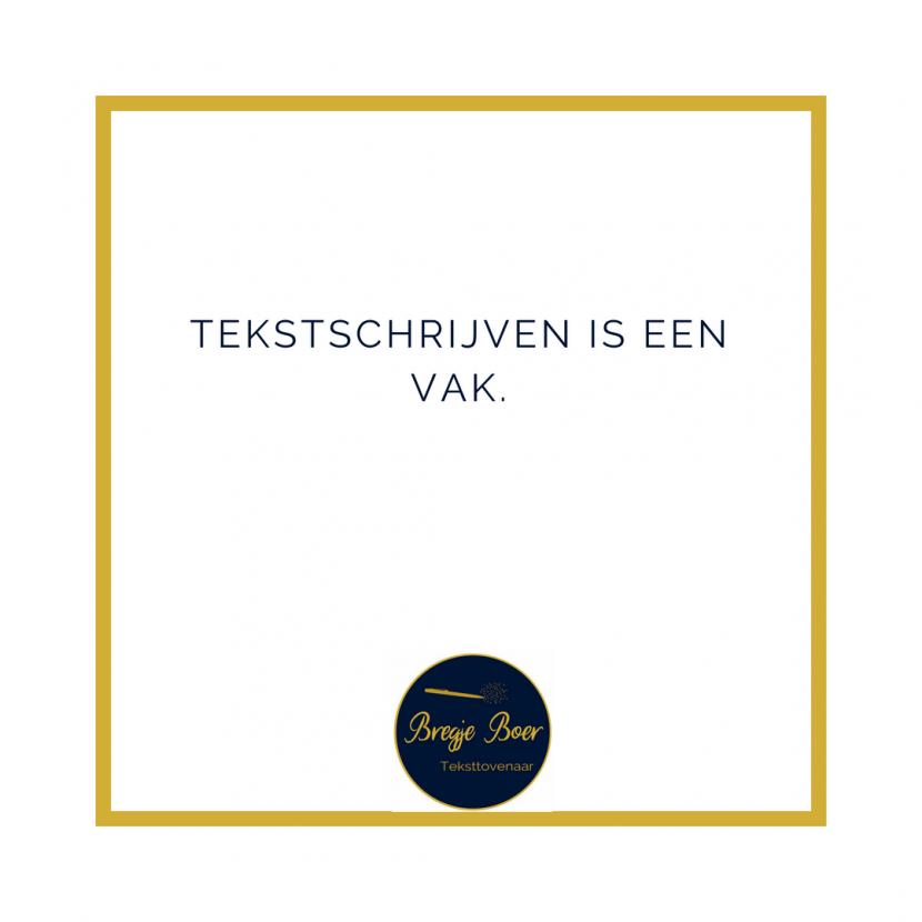 Tekstschrijven is een vak bregjeboer.nl